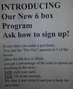 6 Box Program